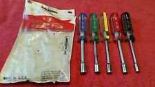 AMSCO 5 PC HOLLOW SHAFT NUTDRIVER SET. MADE IN USA ND5