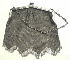 ANTIQUE HEAVY Sterling Silver Purse Chain from Private Europian Collection RARE!