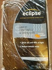 """NEW Brown Eclipse Black Out Curtain, 42"""" X 63"""", One Panel"""