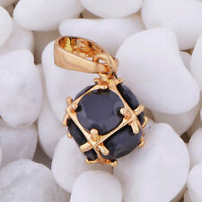 Vintage korean Gold filled jewelry mystic black crystal mystic Mens pendant lot