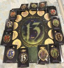 Disney Countdown 13 Event Villains cracked mirror pin set 13 pins LE 750 w/board
