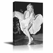 Portrait of Marilyn Monroe - Giclee Print Canvas Wall Art. Ready to Hang - 12x18