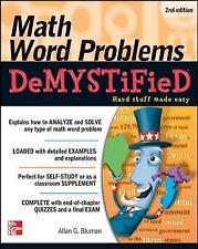 Math Word Problems Demystified 2/E, Bluman, Allan, Good Book