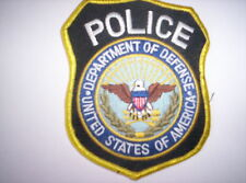 Desde estados unidos Patch Department of Defense Police ca 9 x11 cm