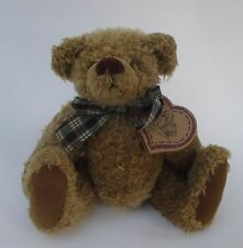"""drwr HEARTFELT COLLECTIBLES Country Teddy Bear jointed nwt 8"""" plaid bow"""