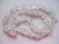 "Rock quartz crystal clear chip beads 15"" clear"