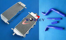 Aluminum radiator and hose Yamaha YZ125 2005-2014 2006 2007 2008 2009 2010 BLUE