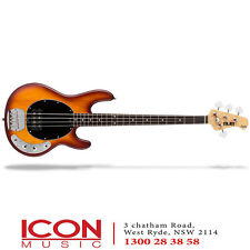 Sterling SUB Ray4 StingRay 4 String Bass RW Neck – Honey Burst Satin, by Music M