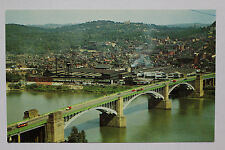 OLD VINTAGE THE WASHINGTON CROSSING BRIDGE PITTSBURGH PA PENNSYLVANIA POSTCARD