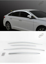 Chrome Window Vent Visors Rain Guards 4pcs For HYUNDAI Sonata LF 2015 - 2016