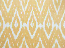 Artisan, Ikat, Drapery Fabric. Hand-Woven & Hand-Dyed. Yellow, India Cotton