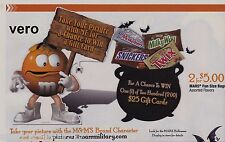 2012 magazine ad M&M's TAKE YOUR PICTURE mms M&M advertisement orange candy