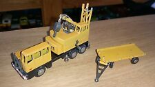 Schuco Piccolo magirus coles crane with trailer yellow very rare please read