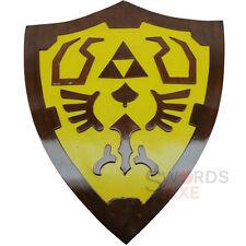 Legend of Zelda Link Wooden Shield Fan Made Replica Cosplay LARP Weapon Costume