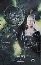 ALICE KRIGE Signed 17x11 Photo BORG QUEEN In STAR TREK COA