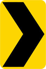 3M EGP Reflective CHEVRON ALIGNMENT ARROW Road Warning Street Sign 12 x 18