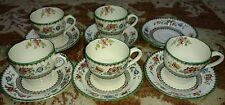 VINTAGE COPELAND SPODE CHINESE ROSE DEMITASSE 5 CUPS 7 SAUCERS