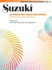 21 Pieces for Violin with Guitar : Selections from Suzuki Violin School...