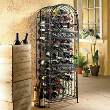 Wine Enthusiast Renaissance Wrought Iron Wine Jail (Wine Rack), Black 63445 New