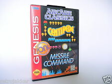ARCADE CLASSICS COMBO CARTRIDGE Sega Genesis Videogame complete in box + manual