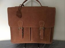 Mens Leather Bag Briefcase Handmade Cowhide Leather Shoulder Bag