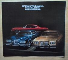 PONTIAC GRAND VILLE BONNEVILLE CATALINA 1975 USA Mkt Large Format Sales Brochure