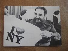 FIDEL CASTRO LEAVES NEW YORK CITY - vintage postcard photo - I love NY - 1979