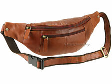 Visconti Unisex Leather Bumbag, Travel Waist Pack, Hip Document Pouch - Brown