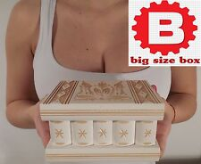 ROMANIAN PUZZLE MAGIC TRICK, SECRET WOODEN JEWELRY BOX CASE, Smart IQ, HANDMADE