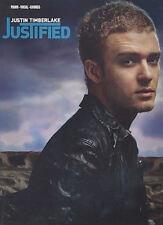 Justin Timberlake - Justified - Songbook für Klavier / Gesang / Gitarre + 1 Plec