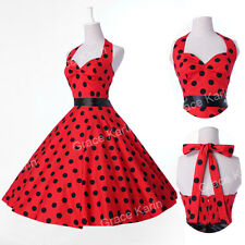 Grace Karin ❤Polka dots❤ Vintage 50s Swing pinup Cocktail Prom  Dress