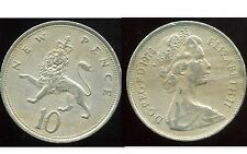 ROYAUME UNI  10  new  pence 1976  ANM  ( bis )