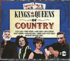 KINGS AND QUEENS OF COUNTRY - 3 CD BOX SET - PATSY CLINE, HANK SNOW & MORE