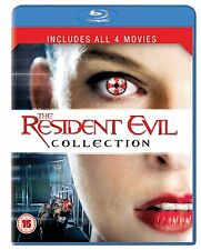 The Resident Evil Collection 1 2 3 4 (1-4) Box Set Blu-Ray 4-Disc Region Free