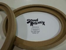 "MDF FLUSH Speaker Rings 6x9"" 3/4"" Thick FLUSH Mount One Pair Made in USA"