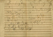 Framed Vintage Music Sheet – Manuscript Sketch in Beethoven's Handwriting (Art)