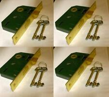 4 X Sets of 2 Lever Internal Mortice Sash Lock Plated Door Security 2 Keys