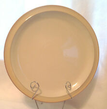"DENBY LANGLEY CARAMEL RIM CREAM CENTER DINNER PLATE 10-1/2"" DIA NWT"