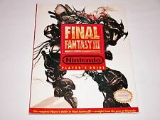 Final Fantasy III OFFICIAL Nintendo Strategy Guide - Super SNES Player's 3 NICE!