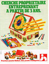 PUBLICITE ADVERTISING  1980   NATHAN  jeux jouets