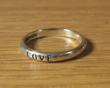 Love Ring Sterling Silver Affirmation Waldeck USA Womens Jewelry Sz 5 Sweetheart