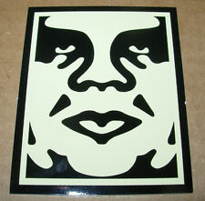 SHEPARD FAIREY Obey Giant Sticker 2.5 X 3 in CREAM OBEY 1-Pc from poster print