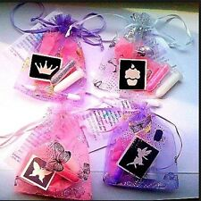 5x MINI GLITTER TATTOO KITS party bag fillers for GIRLS,UNIQUE,STUNNING,UNUSUAL!