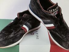 NEW SERAFINI ITALY LUXURY WASHED  RUNNING SHOES BLACK 45