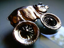 Classic HOG On Wheels Pin Harley Davidson Motorcycle Vintage Biker Badge Hat