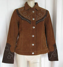 Scully Women's Studded Suede Western Jacket Brown L210 Size XL