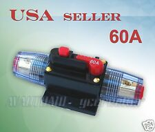 60A Car Audio Inline Circuit Breaker Fuse for 12V System Protection