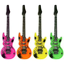 "Inflatable Guitars 20"" Birthday Party Favors Rock Star Bulk Night out KARAOKE Q"