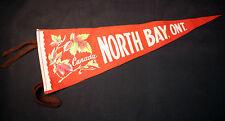 Vintage Felt Souvenir Pennant North Bay Ontario Canada 20 inches