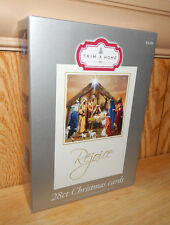 NEW Box of 28 Jesus Nativity Scene & More Christmas Card Assortment w/ Envelopes
